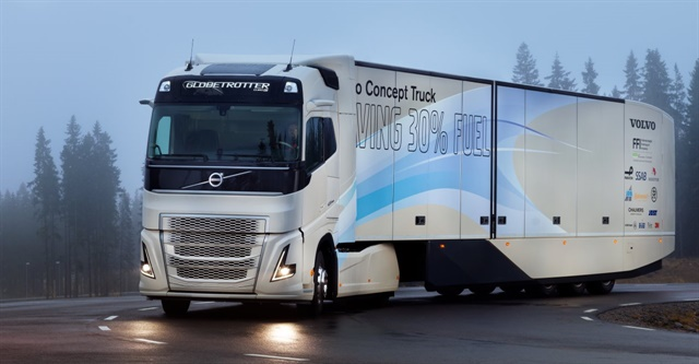 Euro-spec Volvo Concept Truck boasts hybrid diesel-electric powertrain. Photo: Volvo Trucks
