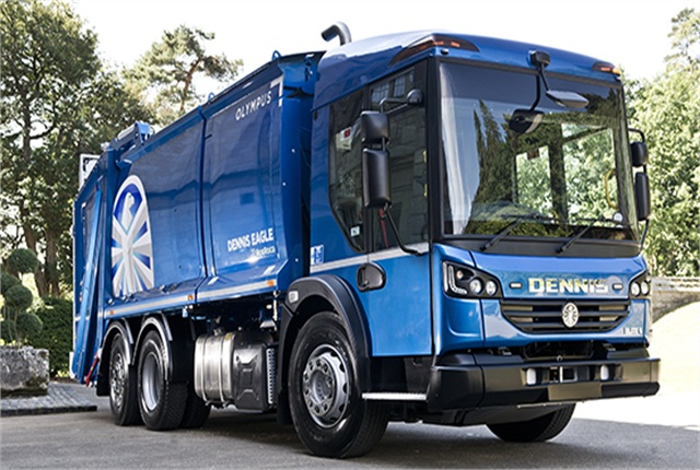 "In 2015, Volvo Penta began supplying UK-based Dennis Eagle, the largest producer of refuse trucks in Europe, with eight-liter Volvo Powertrain engines that meet the new Euro 6 emission rules. Per the Swedish OEM, ""Dennis Eagle's products are unique to the industry due to their low entry… Volvo Penta has been instrumental in helping develop these trucks so they conform to the requirements of the new Euro 6 legislation."" Photo: Volvo Penta"
