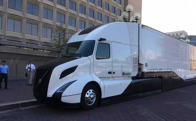 Volvo's SuperTruck is unveiled in Washington, D.C. Photo by Jim Park