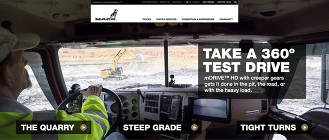 Screenshot via Mack Trucks
