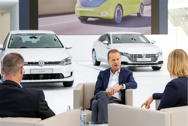 In an interview with VW's Inside magazine, CEO Herbert Diess said Tesla is the company's main competitor today. Photo: Volkswagen