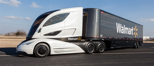 Walmart Shows Off Futuristic Tractor Trailer Topnews