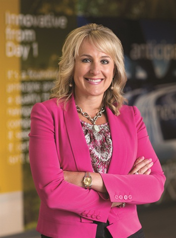 Shelley Simpson, chief marketing officer, executive vice president and president, integrated capacity solutions and truck, J.B. Hunt Transport Services, Inc. Photo via WIT
