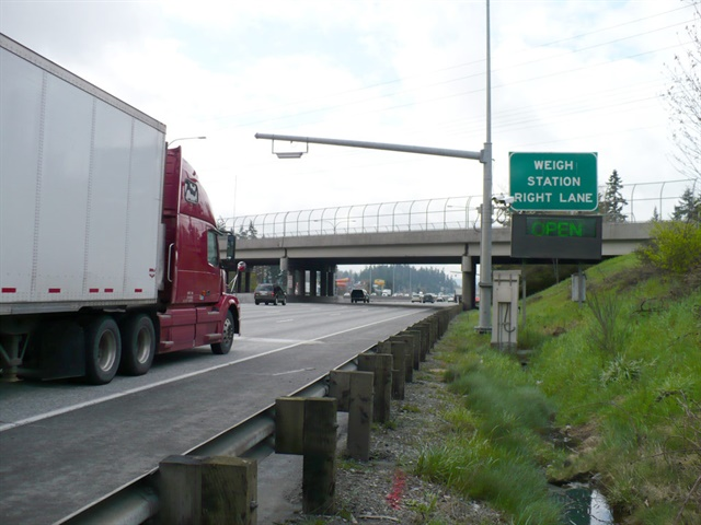 A new agreement allows drivers can carry just one transponder — NorPass or PrePass — because the devices are now fully interoperable. WSDOT will continue to sell transponders. Photo: WSDOT