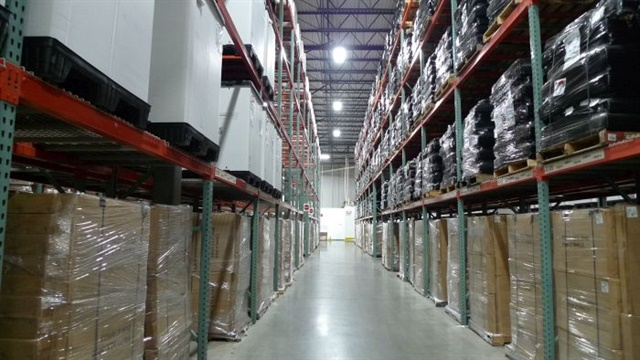 Products in the warehouse that are part of the Emergency Supply Stockpile that XPO manages for NYCEM. Photo: XPO Logistics