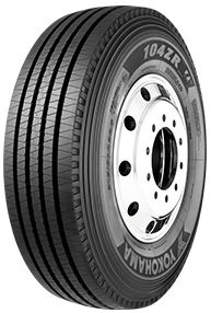 The Yokohama 104ZR urban/regional all-position/steer tire (photo courtesy of Yokohama Tires).