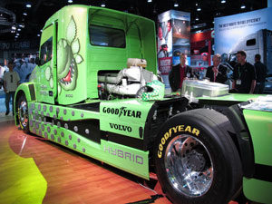 Mean Green high-speed hybrid makes its debut at MATS. (Photo by Jim Park)