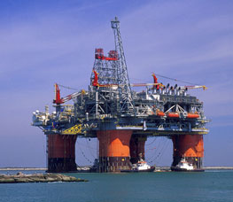 New crude oil production like that from the Thunder Horse Platform in the Gulf of Mexico will help increase non-OPEC oil supplies in 2009. (Photo courtesy BP)