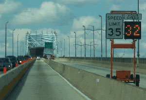 The truck and hazardous material restriction on the Platt Bridge will be enforced and will remain in effect until June 2014, when the $42.7 million bridge rehabilitation project is scheduled to be completed. (Photo courtesy of PennDOT)