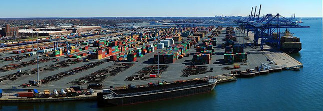 The Port of Baltimore may see increased container traffic from Asia after the Panama Canal starts accepting larger vessels. (Photo by Fatlouie/Wikimedia Commons)