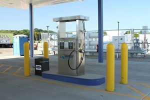 A new public-access compressed natural gas fueling station, constructed for Smith Dairy Products Co., announced its grand opening.
