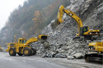 It took nearly a year to fully reopen I-40 in North Carolina near the Tennessee border after a massive rockslide.