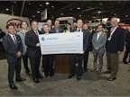The check for 23.6 million is the largest grant ever made to advance