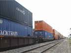 Intermodal service providers again demonstrated clear gains in the intermodal sector. Photo: Jim Park