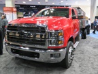 The Class 6 Chevy Silverado 6500HD chassis cab is powered by a