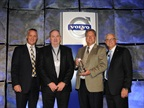 Chicago Truck owner Ron Meyering (second from right) and vice president Kevin Murtha (second from left) were awarded the 2014 Volvo Trucks North American Dealer of the Year award from (left) Göran Nyberg, president, Volvo Trucks North American Sales & Marketing and Terry Billings, Volvo Trucks vice president, business development (right). Photo: Volvo Trucks