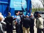 Event guests took a tour of the new CNG trucks. (Photo courtesy of Republic)