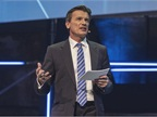 Wolfgang Bernhard speaking on connected trucks. Photo: Daimler AG