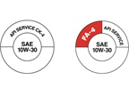 The two donut symbols are designed to help identify the new FA-4 and CK-4 diesel engine oils. Image: API