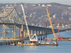 Construction on the Tappan Zee Bridge that spans the Hudson River noth of New York City. Photo: U.S. DOT