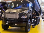 A Business Class M2 at the Freightliner booth at last fall's Expo Transporte in Mexico. (Photo by Rolf Lockwood)<br />