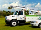 Some of Florida Power & Light s green vehicle fleet. Photo