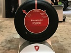 Bridgestone showcased the M870 and FS860 all-position tires at this year's Waste Expo in Las Vegas. Photo: Bridgestone Americas