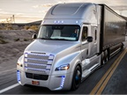 Countries should begin working together now to ensure smooth adoption of autonomous truck technologies, says a new report. Photo: Freightliner