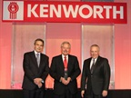 From left are, Truck Enterprises executives John Harter and Jim Hartman, and David Danforth, PACCAR Parts general manager and PACCAR vice president. Photo: Kenworth