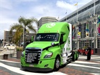 <p><strong>Clean vehicle technology took center stage at recent alt fuel conference in Long Beach. In front of the event, a Class 8 Hyliion demonstration truck drew attention from passersby.</strong> <em>Photos: Steven Martinez</em></p>