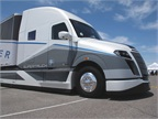Daimler says its $30 million SuperTruck does not meet EPA's Phase 2 GHG reduction demands. Photo by Jim Park
