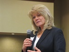 FMCSA new Deputy Administrator Cathy Gatreaux talks about the importance of regulators and enforcement partnering with industry to improve safety. Photo: Deborah Lockridge