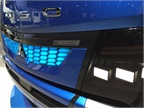 The IAA show version of the eCanter featured LED headlamps, a distinct