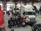 Fontaine Modification Fleet Services has opened a new truck modification center in Laredo, Texas, adjacent to the TruckMovers consolidation and dispatching operation. Photo: Fontaine Modification