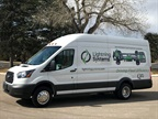 Photo of electrified Transit cargo van courtesy of Lightning Systems.