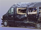 A scan of the Mercedes‑Benz limo van involved in the crash: via NTSB.