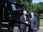 On the left, ATA president Bill Graves and Stephen Roy, president of Mack Trucks. Photo via Mack Trucks.