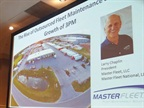 Larry Chaplin speaks at TMW's Transforum on the rise of outsourced maintenance. Photo: Master Fleet