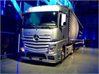 One of three platoonable Mercedes Benz Actros with Highway Pilot