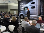 Media out in force at Volvo press conference at the NACV Show. Photo: