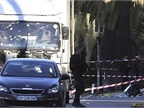 Truck used to kill pedestrians in Nice, France on July 14, shown after