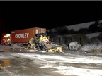 Aftrmath of Jan. 27, 2014, truck crash near Naperville, Ill. Image via NTSB