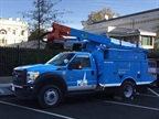 PG&E/Efficient Drivetrains Inc. Electric Hybrid bucket truck: Photo via PG&E