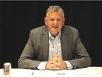 Andreas Renschler, head of Volkswagen Truck & Bus, talks to