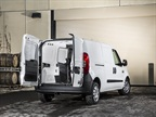 Sixty-40 rear doors and more than 48 inches between wheel wells are among the compact Ram van's hauling features: Photo via Ram.