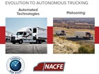 Platooning is one of the steps toward autonomous trucking, but still requires drivers in all trucks, NACFE says.