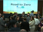 The NHTSA held a conference to introduce its Road to Zero campaign and to address the increase in traffic deaths over the past year. Screenshot via NHTSA
