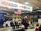 Arkansas Governor Asa Hutchinson speaking about the SAF-Holland Dumas facility expansion.<br />Photo: SAF Holland