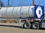 Schneider worked with partners to develop a 40-foot bulk intermodal container capable of hauling 5,800 gallons.