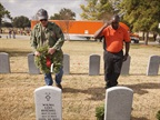 In honor of National Wreaths Across America Day, Dec. 13, 2014, Schneider delivered wreaths to the Houston National Cemetery in Texas. Photo by Schneider